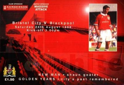 Bristol City v Blackpool, 24th August 1996